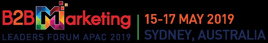 B2B Marketing Leaders Forum APAC 2019 in Sydney Australia in May