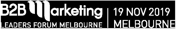 B2B Marketing Conference Melbourne 2019