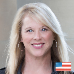 Carla Johnson With US Flag