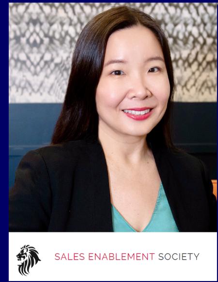 Iris chan president of sales enablment society speaking at B2b Sales leaders conference in sydney australia