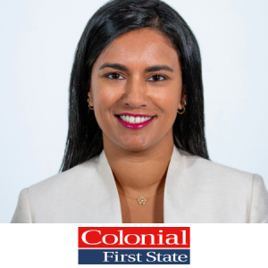 Nicole Mathias-Browne Head of Marketing, Colonial First State speaking at B2B Marketing Conference in Sydney Australia 2021