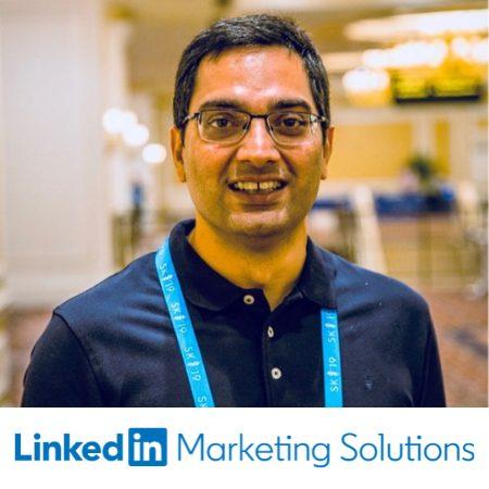Sumit Khanna, Enterprise Sales linkedIn speaking on ABM conference
