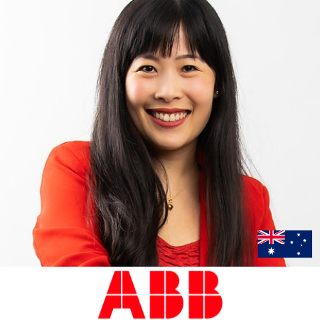 Joanne Woo, head of marketing abb speaking at b2b conference in asia